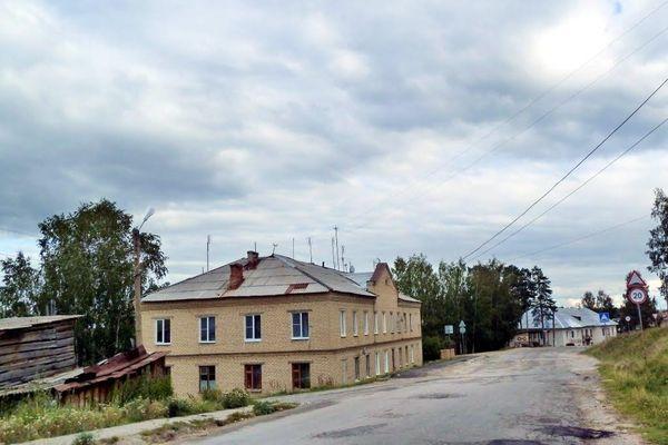 Вишневогорск. Дома на склоне. Автор: Владимир А. Довгань.