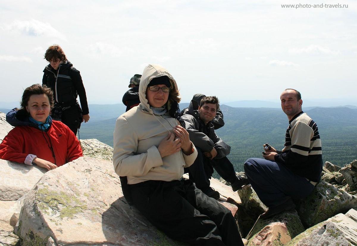 13. Отдых на вершине горы Круглица. Южный Урал. Челябинская область. Национальный парк Таганай