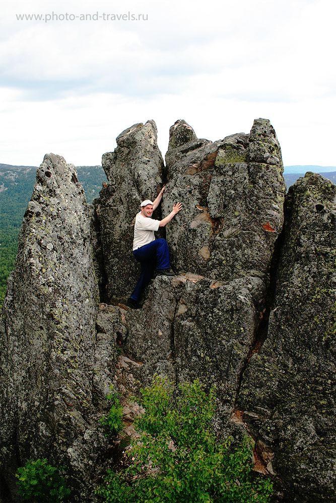 8. Скалы на Двуглавой Сопке в национальном парке Таганай