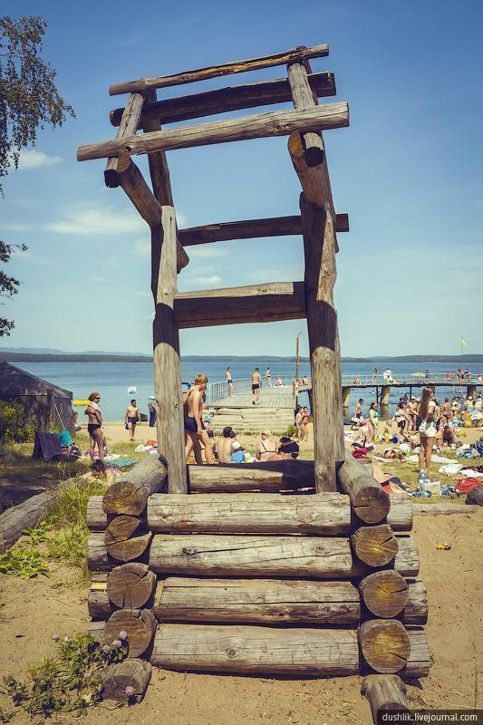 Образцовый пляж на озере Большой Кисегач | Путеводитель по ...