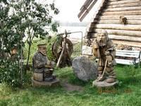 Аквапарк «Сонькина лагуна». Деревянные фигуры.