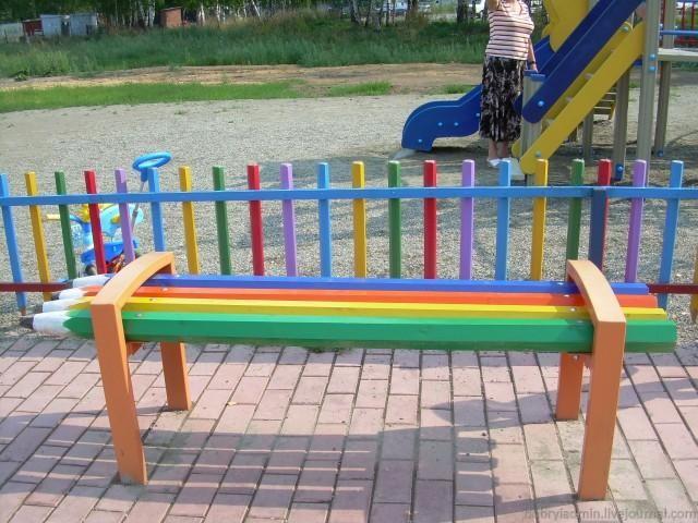 Карандашная скамейка