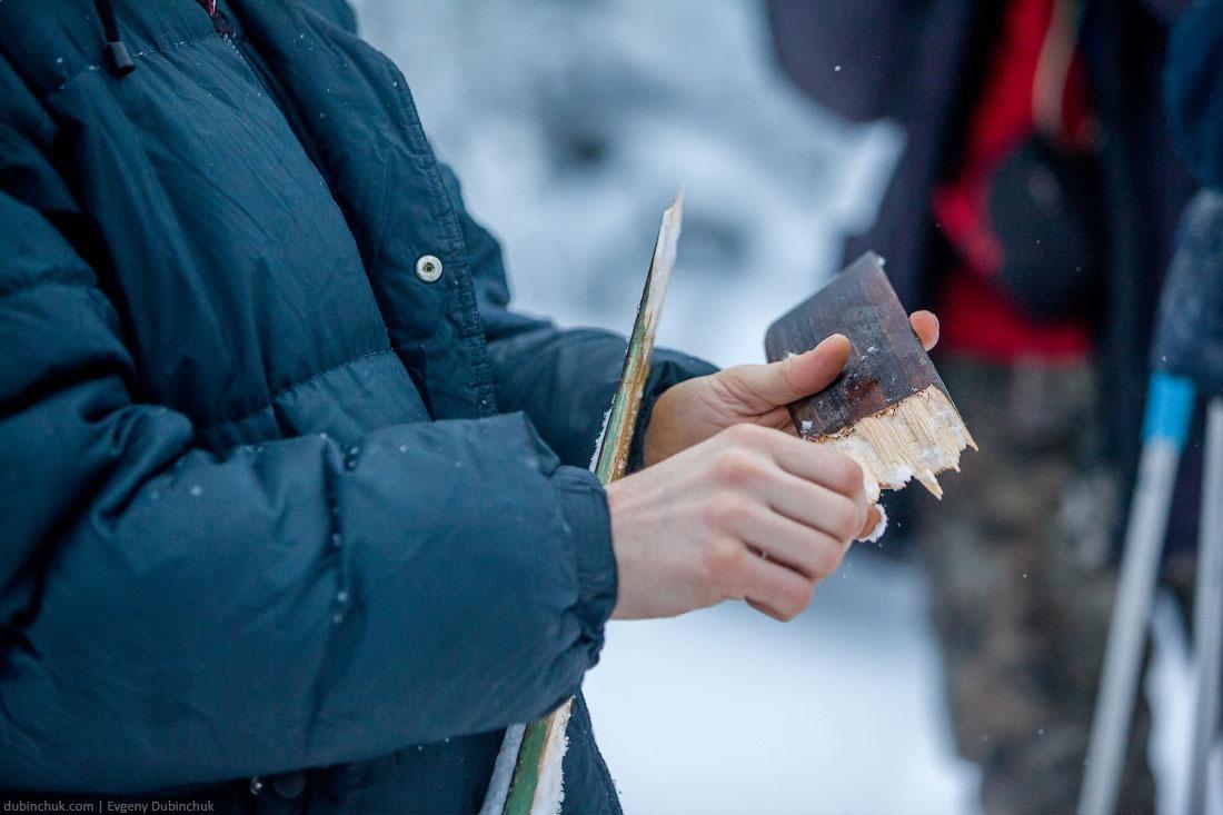 Поломка лыжи в лыжном походе