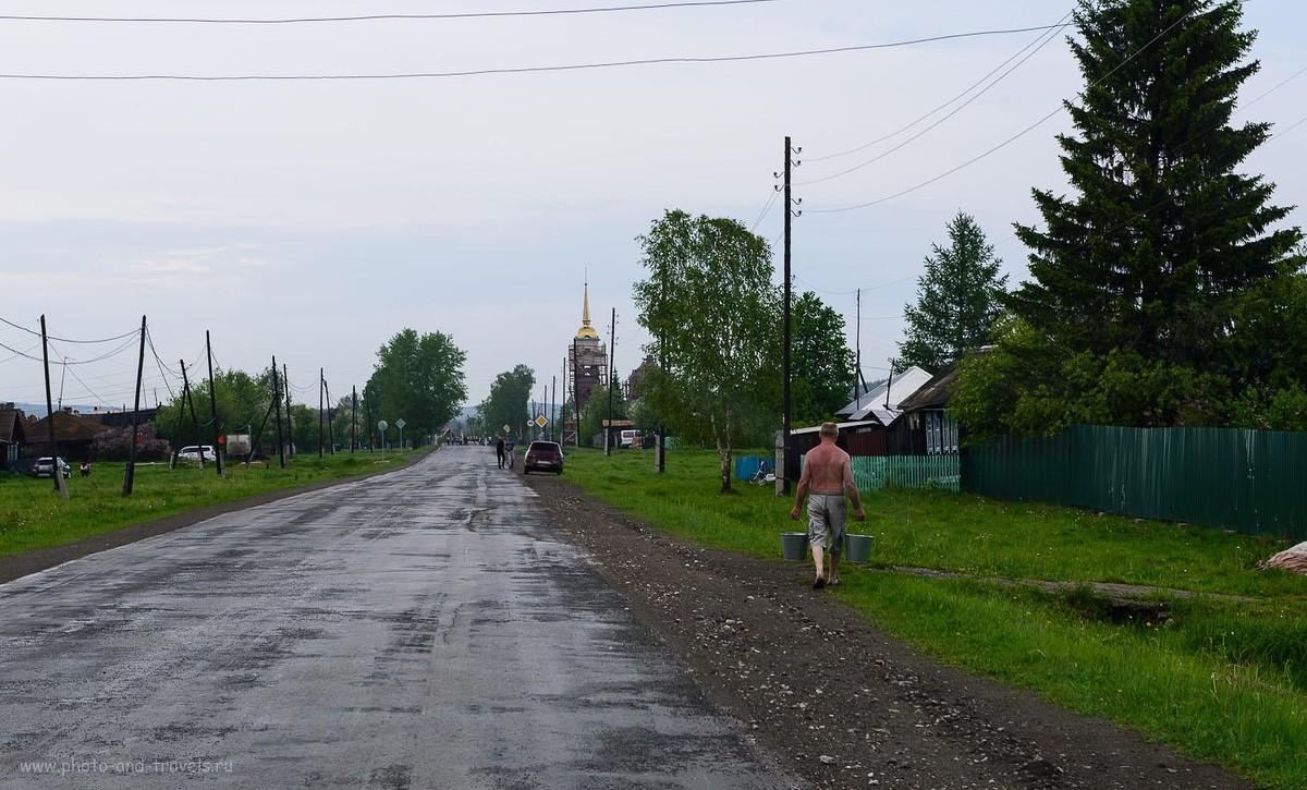 Вечером будет баня... Село Мраморское.
