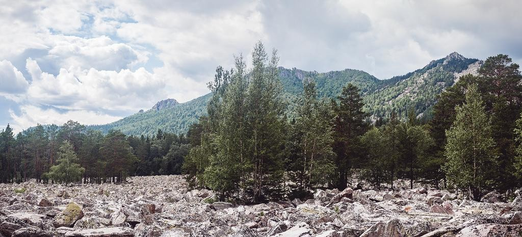Каменная река в нац парке Таганай