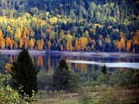Северо-восточная окраина города Златоуста, водохранилище на реке Большая Тесьма. Автор: Felisket