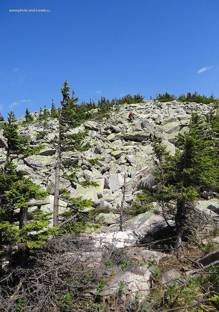 17. Активный отдых в Челябинской области. Походы выходного дня на Таганай. Спуск с самой высокой горы Таганая не прост.