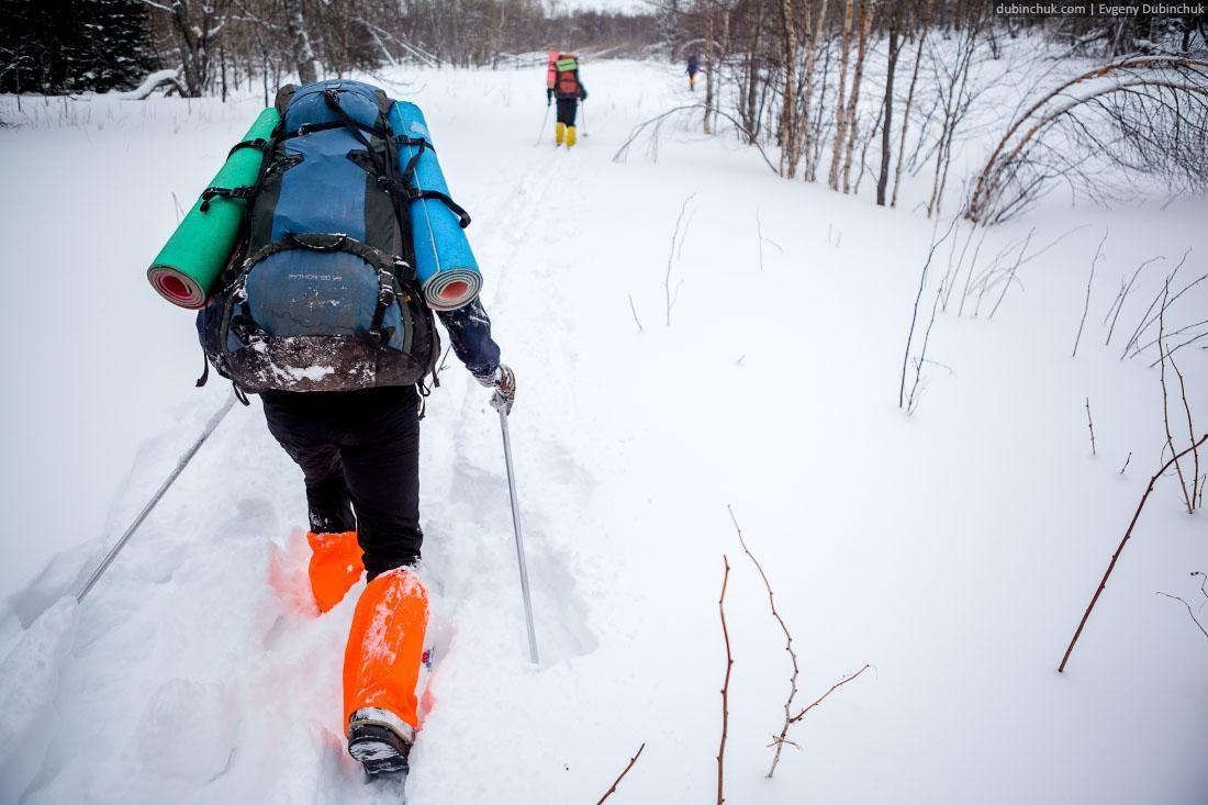 Тропежка в лыжном походе. Южный Урал