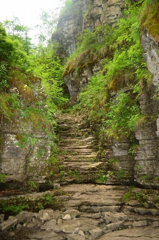лестница сухие водопады
