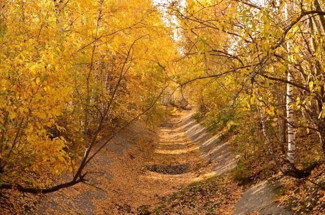 Осень, канал, Магнитская ГЭС