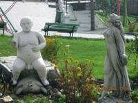 Аквапарк «Сонькина лагуна». Скульптуры.