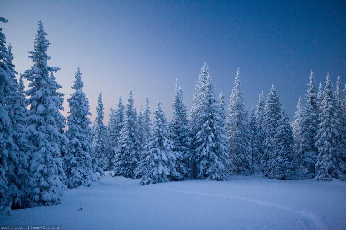 Иремель зимой. Закат