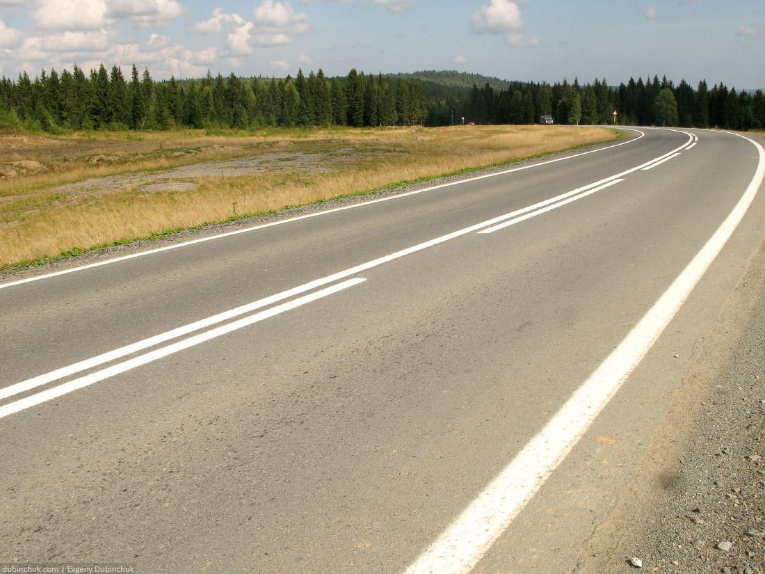 Пустая дорога. Поход на велосипеде в одиночку по Уралу. Empty highway