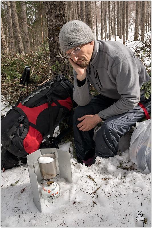 Поход на Уван. Трудно зимой в лесу чайку попить