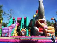 Динопарк «Динозаврик». Надувные горки.