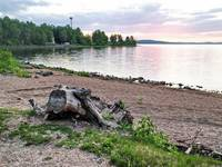 Берег озера Синара. Автор: Людмила Курлова.