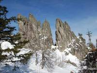 """""""Перья"""" горы Двуглавая сопка"""