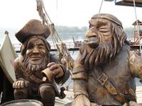 Аквапарк «Сонькина лагуна». Деревянные скульптуры.