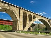 Никольский железнодорожный мост через реку Сим. Автор: Kluus.