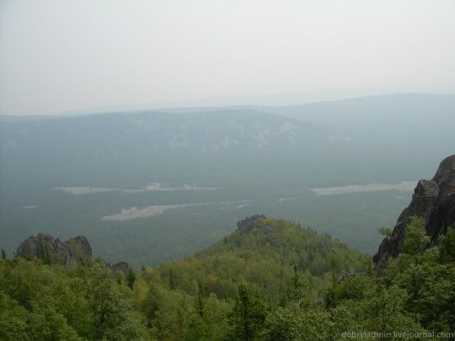 Большая каменная река. Вид с верху