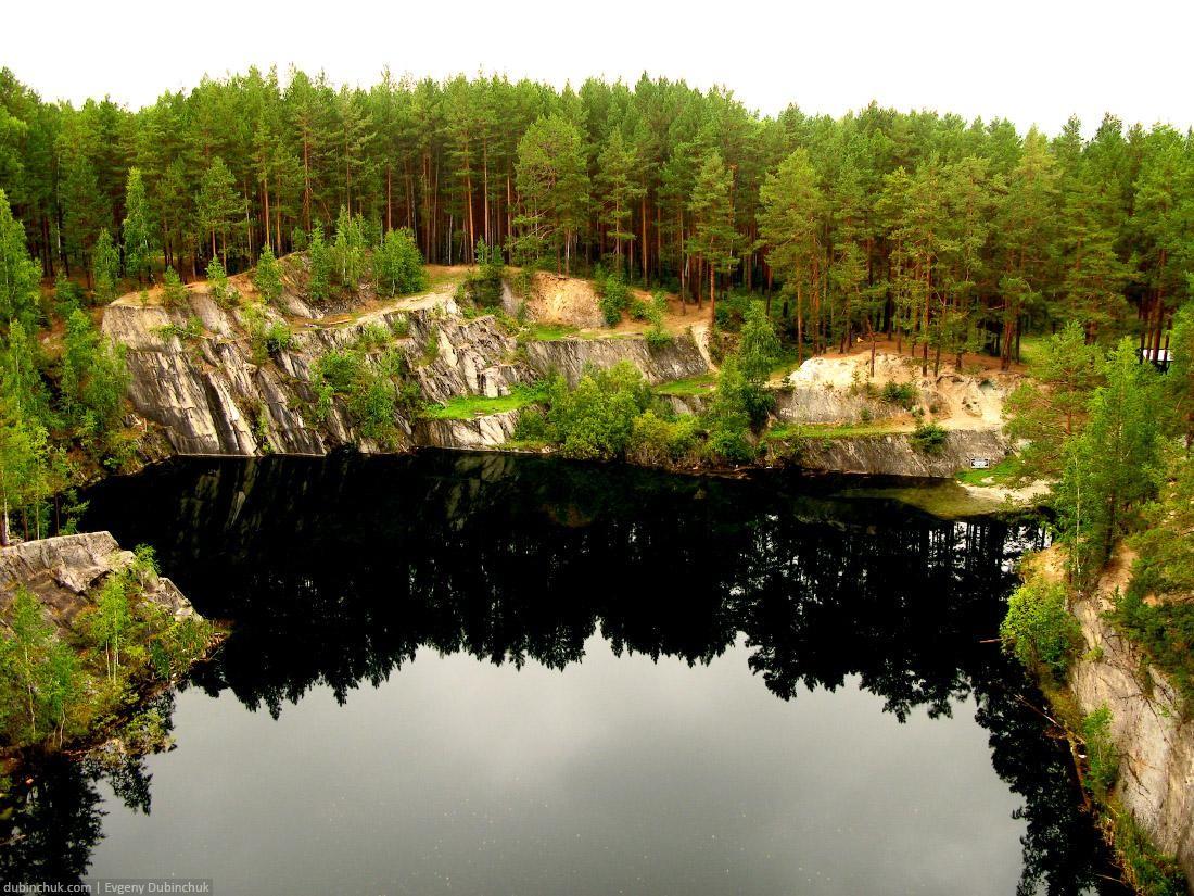 Озеро Тальков камень. Путешествие на велосипеде в одиночку по Уралу. Landscape of forest lake