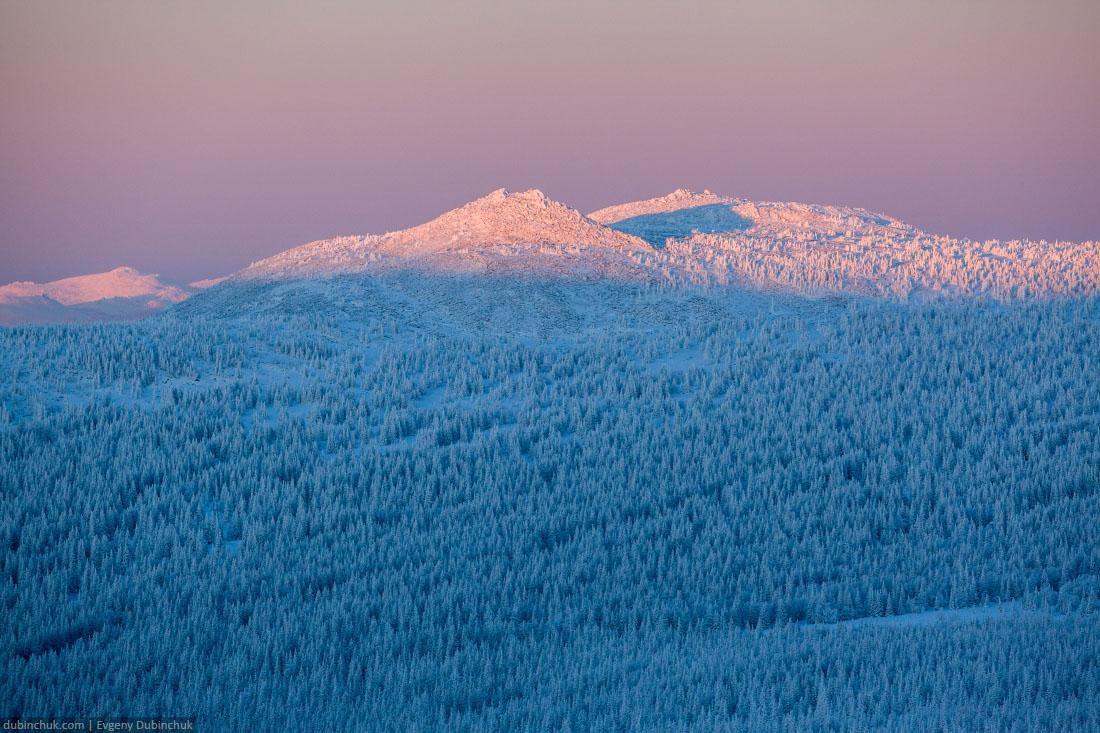 Эпичный закат на Южном Урале зимой