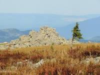 Скалы-останцы на склонах Малого Иремеля. Автор: Руслан Мигранов.