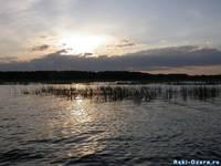 Озеро Улагач вечером