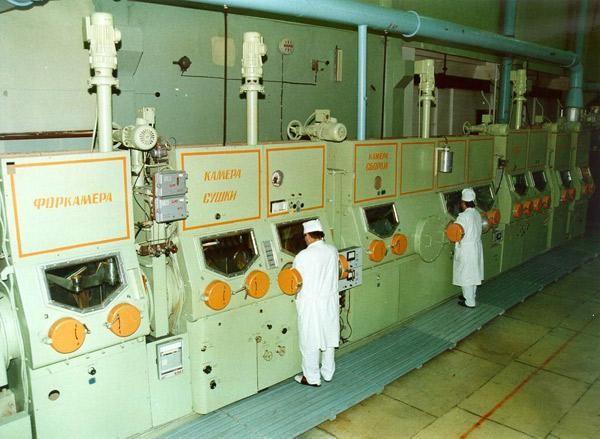 Линия для работы с радиоактивными веществами