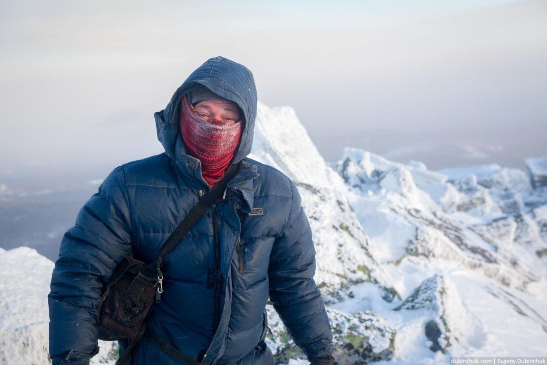 Ветер и мороз. Вершина Малого Иремеля