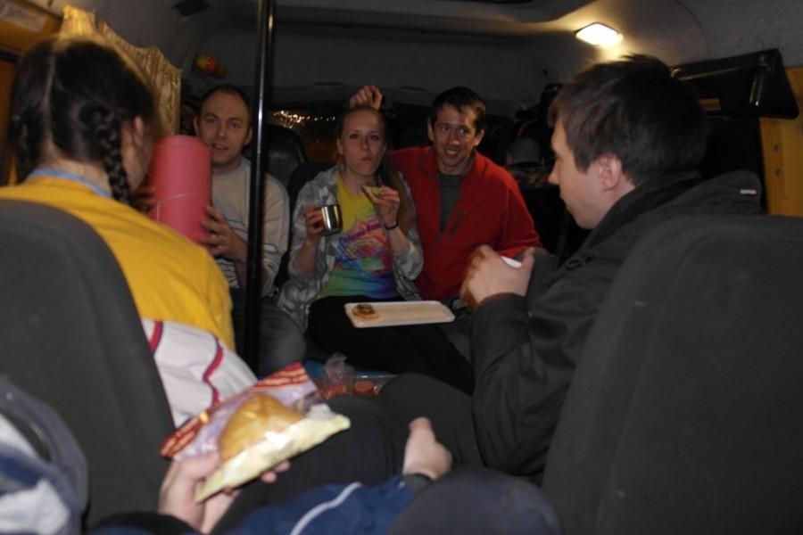 Ужин по дороге в Тюлюк