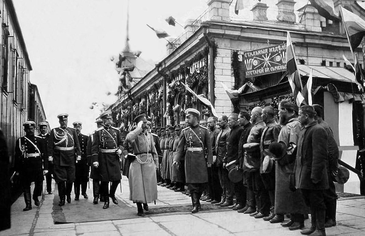 1904 г. Встреча императора Николая Второго.