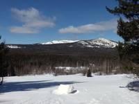 Вид на гору Дальний Таганай на подножье горы Ицыл