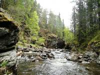 Ларкино ущелье на реке Тюлюк.