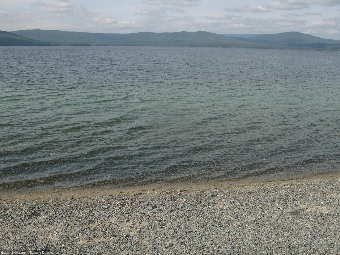Озеро Тургояк рядом с Миассом. Одиночный велопоход по Уралу.