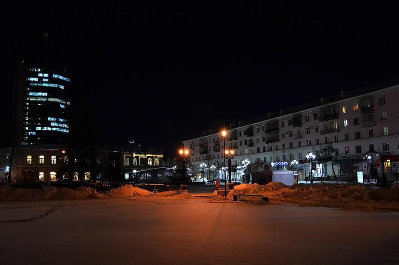 Пешеходная зона вечером