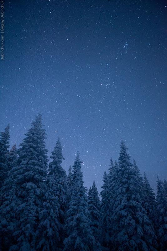 Ночное небо зимнего Урала