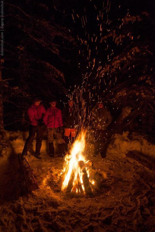 Пионерский костер в лыжном походе