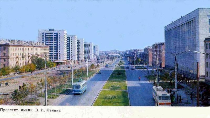Челябинск. Проспект им. Ленина, фото Б. Погорелого, 1972 год.