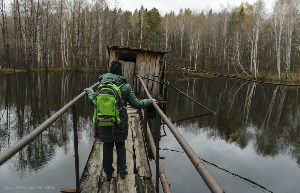 Фотография 25. Как добраться до карьеров Курочкин лог. Проходим по дороге мимо лесного озера. Фотоаппарат Nikon D610, репортажный светосильный объектив Nikkor 24-70/2.8. Настройки, использованные при съемке: 1/500, 2.8, 640, 24.