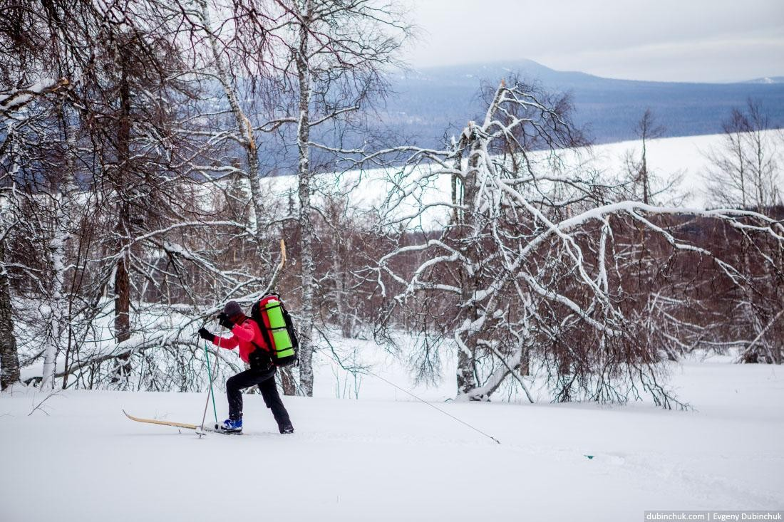 Турист на лыжах