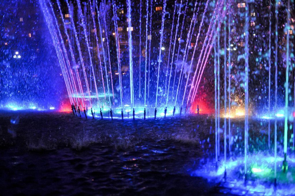 Магнитогорск ночью / Magnitogorsk city at night
