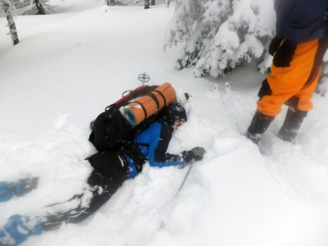 Падение на лыжах