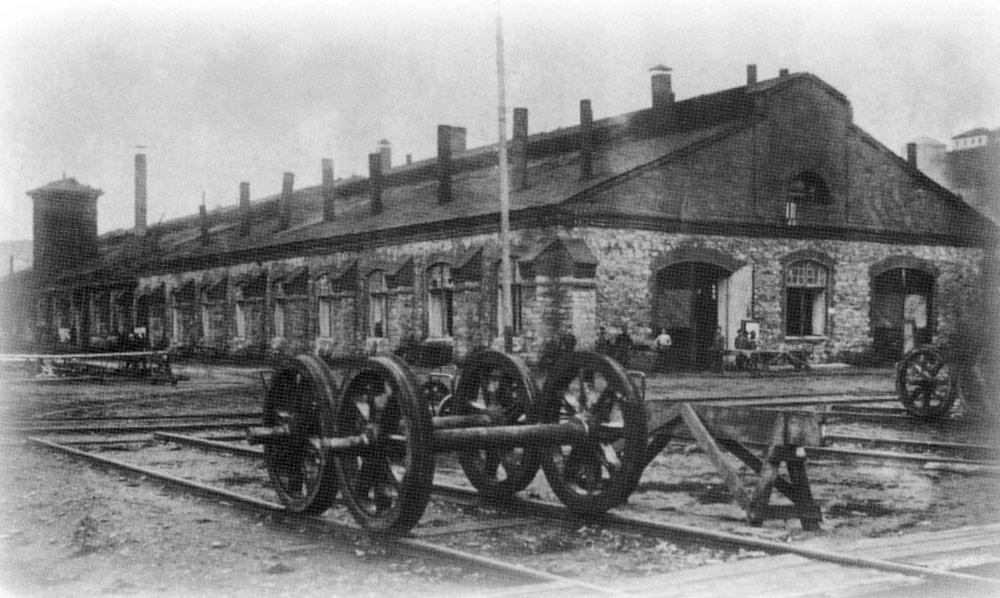 Цех Усть-Катавского вагоностроительного завода в начале  20 века